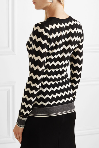 Stella Mccartney Knits Pointelle-knit wool sweater