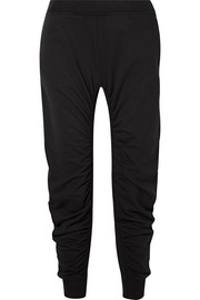 Stella McCartney Ruched cotton-jersey track pants
