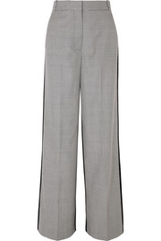 Stella McCartney Reine houndstooth wool-tweed and silk-twill pants