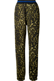 Stella McCartney Leopard-print jersey pants