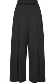 Stella McCartney Cropped wool-crepe wide-leg pants