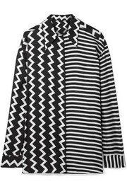 Stella McCartney Oversized printed silk-moire shirt