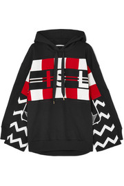 Stella McCartney Wool intarsia and cotton-jersey hooded top