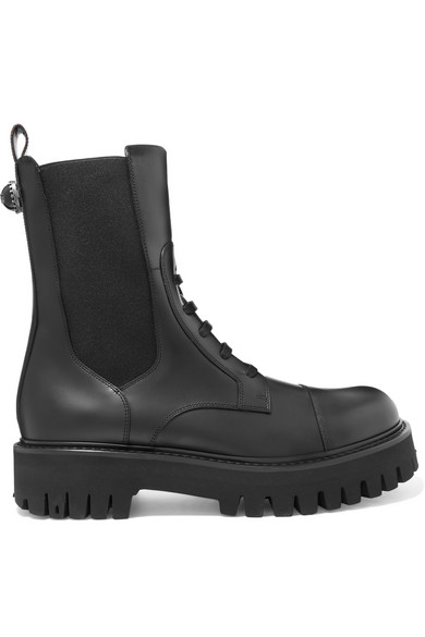 Dolce & Gabbana - Leather Combat Boots - Black