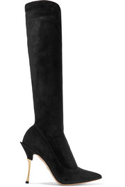 Dolce & Gabbana Cardinale stretch-suede knee boots