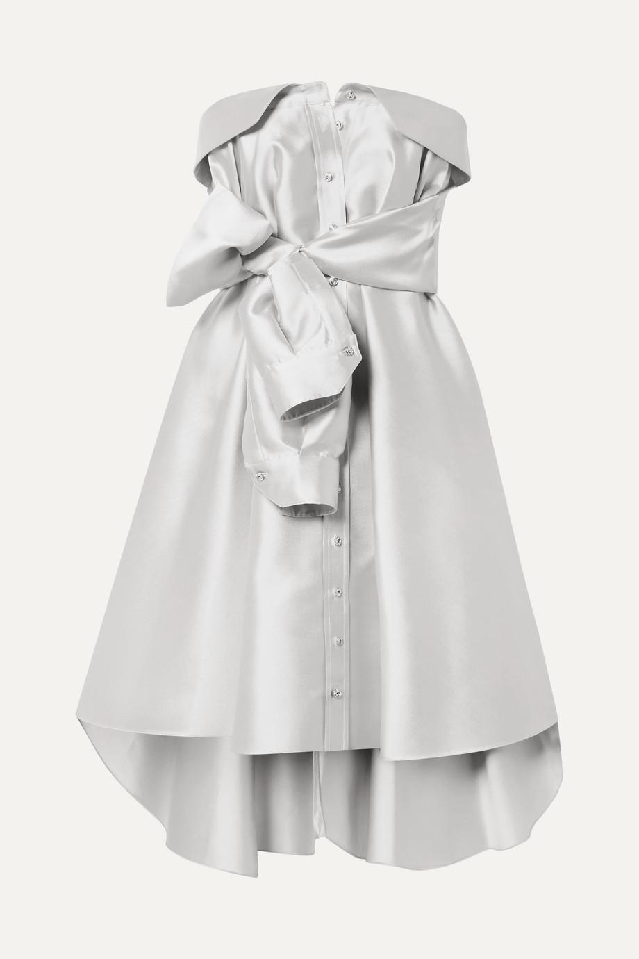 Alexis Mabille Minikleid aus glänzendem Twill mit Knoten