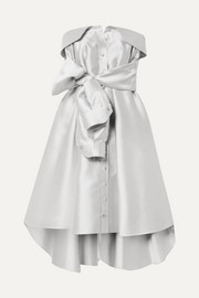 Alexis Mabille Bow-detailed satin-twill mini dress