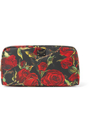 Floral-print shell cosmestics case
