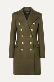 Balmain Button-embellished wool and cashmere blend coat