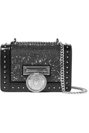 Balmain Baby Box embellished leather shoulder bag