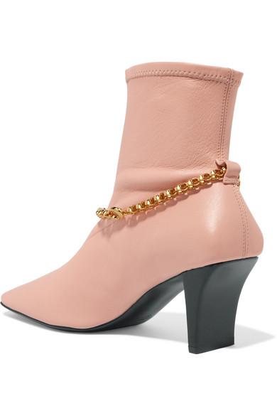 Jil Sander | Sock mit Boots aus Leder mit Sock Verzierung f1c5b4