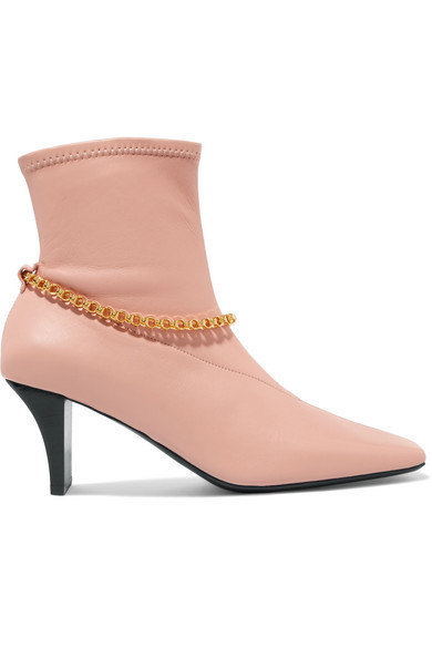 EMBELLISHED LEATHER SOCK BOOTS from NET-A-PORTER