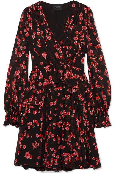 Giambattista Valli - Floral-print Silk-georgette Mini Dress - Black