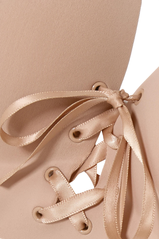Fashion Forms U-Plunge selbstklebender, rückenfreier, trägerloser BH mit Schnürung