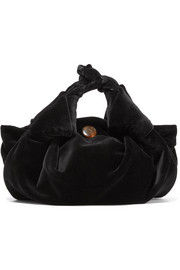 The Row Ascot small velvet tote