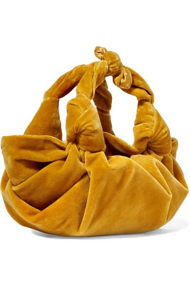 Ascot Small Velvet Tote - Mustard The Row qzLfKX