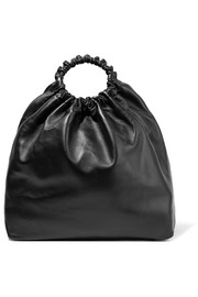 The Row Double Circle XL leather tote