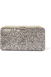Jimmy Choo Ellipse Clutch aus Leder mit Glitter-Finish