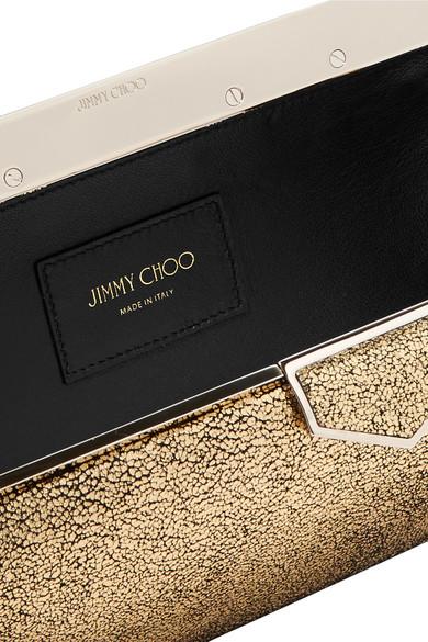 17bd45f401 Jimmy Choo | Ellipse metallic leather clutch | NET-A-PORTER.COM