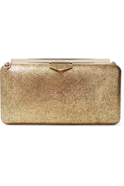 Jimmy Choo Ellipse Clutch aus Metallic-Leder