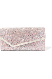 Jimmy Choo Erica Clutch aus Leder mit Glitter-Finish