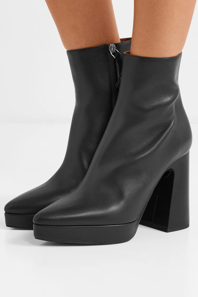 Proenza Schouler Boots Leather platform ankle boots