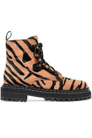 Proenza Schouler Tiger-print calf hair ankle boots