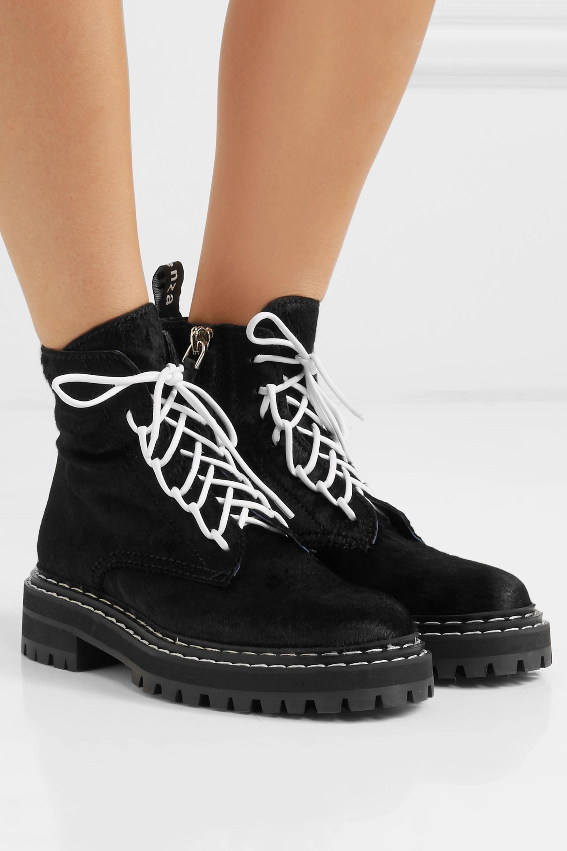 Proenza Schouler Calf hair ankle boots