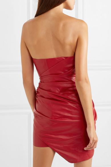 e0565f108bdf Alexandre Vauthier. Ruffled gathered leather mini dress. HK$9,842. Play