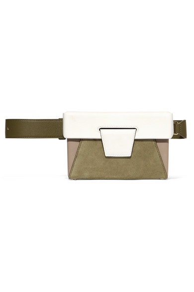 Lola Color Bloque De Bolsa De Cinturón De Cuero Texturizado - Yuzefi Bronceado 62EYngOOD