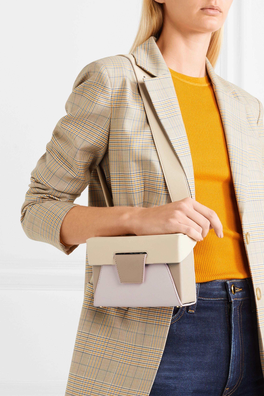 Lola color block textured leather belt bag