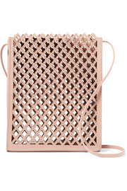 Alaïa Studded laser-cut leather shoulder bag