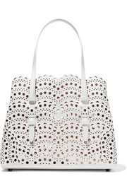 Alaïa Vienne small laser-cut leather tote
