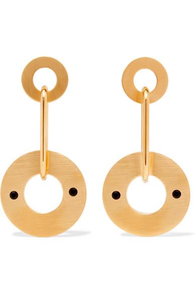 MARNI GOLD-TONE CRYSTAL EARRINGS