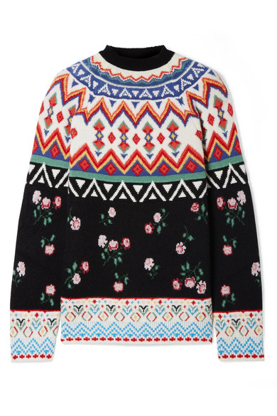 Alanui - Cashmere-jacquard Sweater - Black