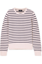 A.P.C. Atelier de Production et de Création Erika striped honeycomb-knit cotton sweater