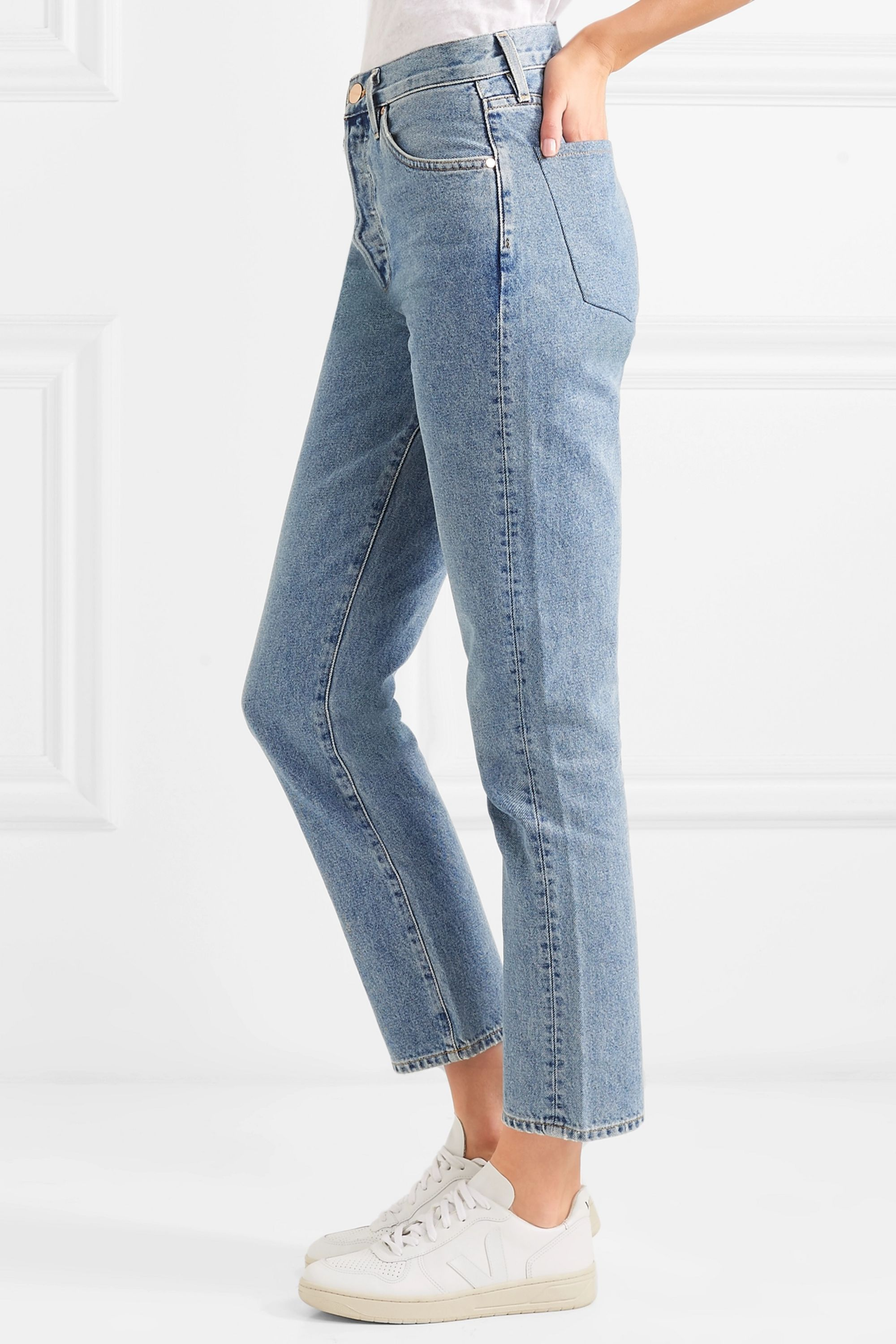 GOLDSIGN Jean droit taille haute The Benefit