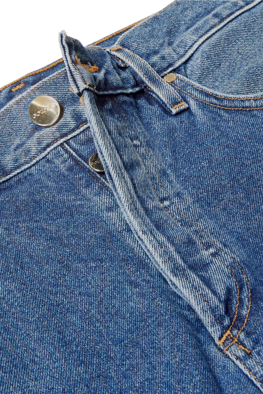 GOLDSIGN Low Slung verkürzte, halbhohe Jeans mit geradem Bein