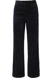 The Flat Front cotton-corduroy wide-leg pants