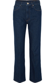 Thea high-rise straight-leg jeans