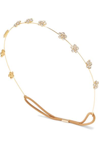 Viv Gold Tone Crystal Headband by Jennifer Behr