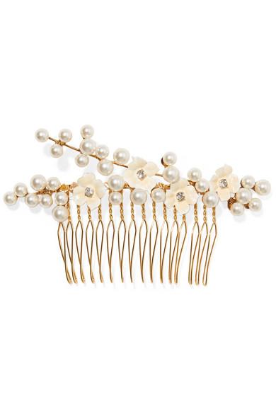 Set Of Five Gold-tone Mother-of-pearl Hair Slides - one size Jennifer Behr kkSsMft0A