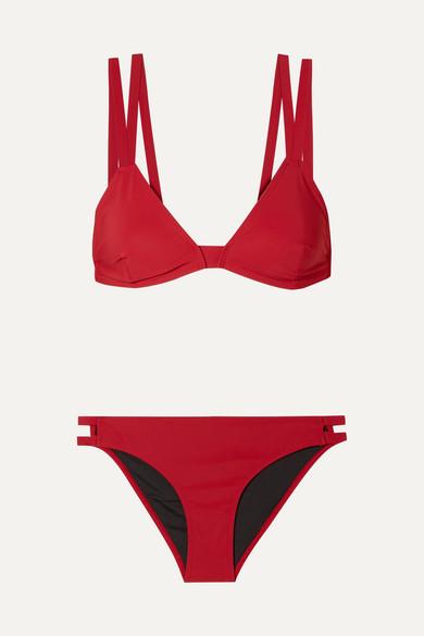 WARD WHILLAS Ines And Frida Triangle Bikini in Red