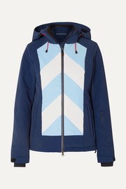 Tignes hooded striped jacket