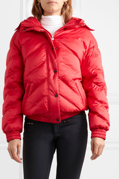 Perfect Moment – Oversized Quilted Jacket – Red