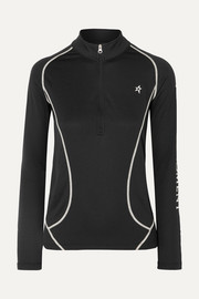 Perfect Moment Printed Polartec stretch-jersey ski top