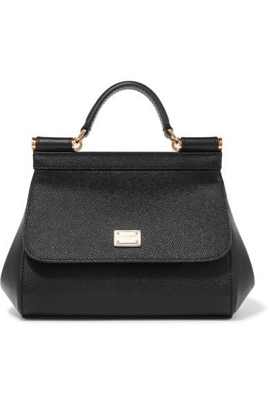 Sicily Micro Textured Leather Tote by Dolce & Gabbana