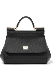 Dolce & Gabbana Sicily micro textured-leather tote