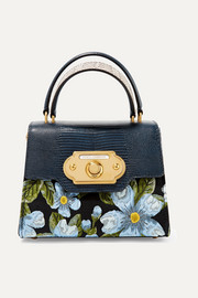Dolce & Gabbana Welcome small jacquard and watersnake tote