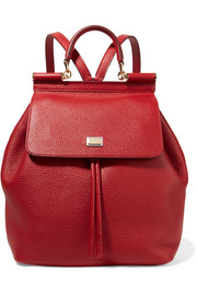 Dolce & Gabbana Sicily medium textured-leather backpack